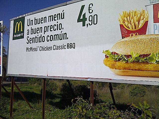 La última valla de McDonald's